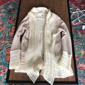 ANTHROPOLOGIE 2 tone knitted cardigan